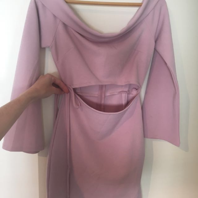 MURA boutique pastel mauve dress