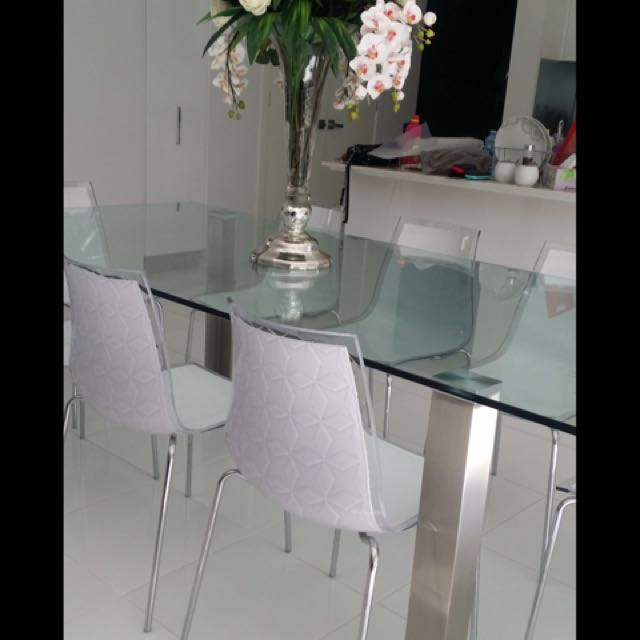 Nick Scali Dining Table+ Chairs