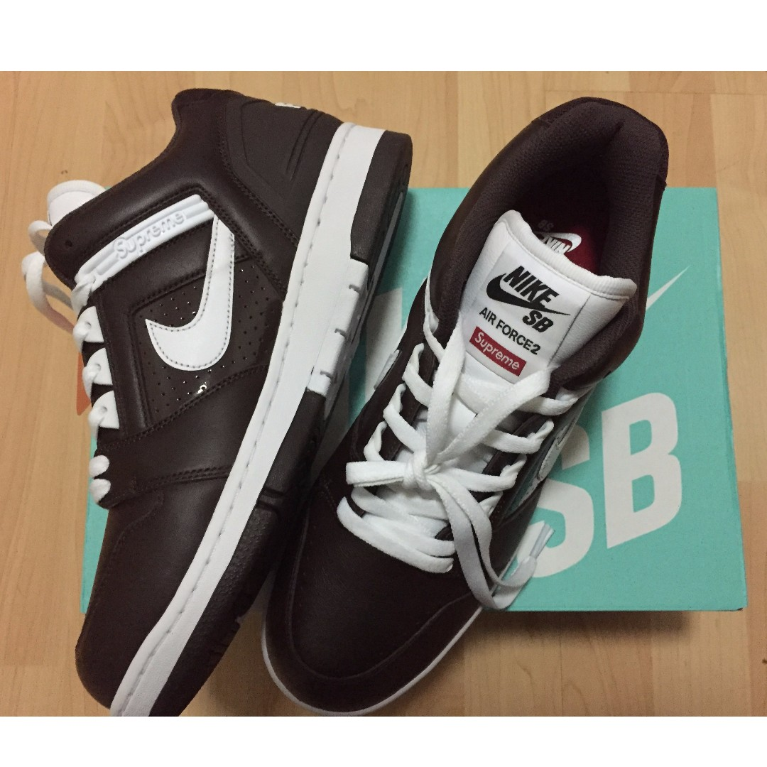 new product 3aede e74c6 Nike SB Air Force 2 Low x Supreme (US10), Mens Fashion, Foot