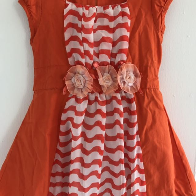 Orange dress flower