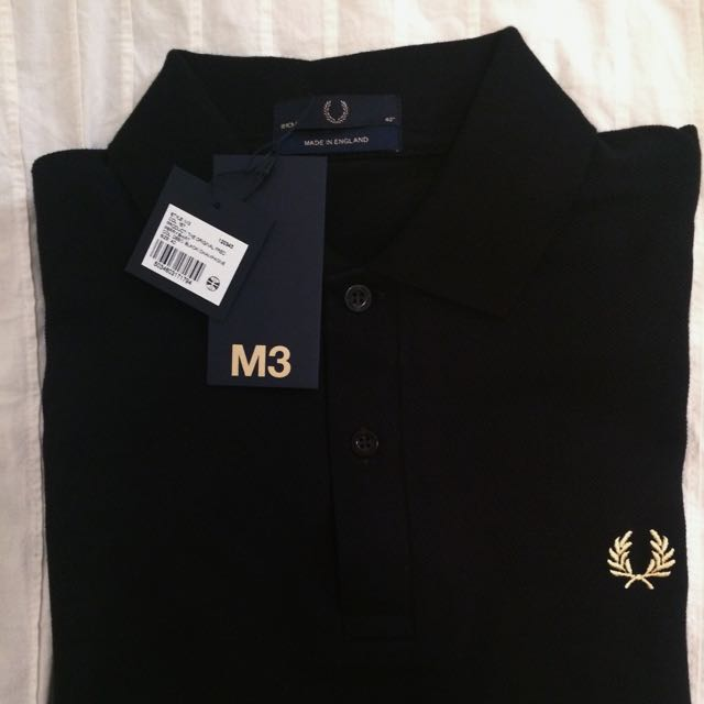 Original Fred Perry Black & Champagne Polo