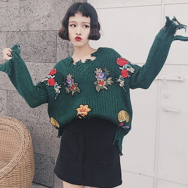 Patches Knitted Tops