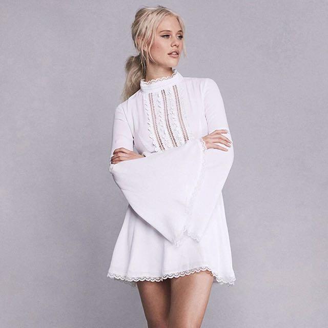 Po White Lace Boho Prom Dress Womens Fashion Clothes Dresses