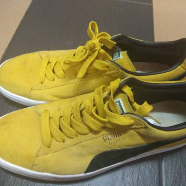 cheap for discount dd47a 020ac PUMA Suede Classic Yellow Black Gold