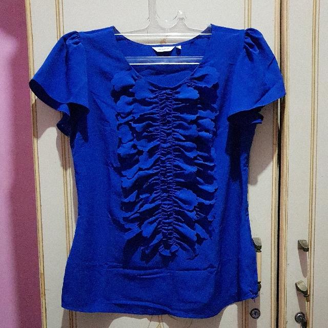 REPRICE Royal blue blouse
