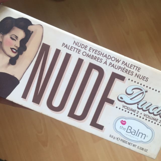 (SALE) NUDE DUDE Eyeshadow palette by the Balm