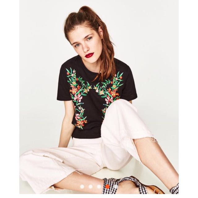 ‼️🍓Sale! Zara Inspired Bubble Floral Print Tee