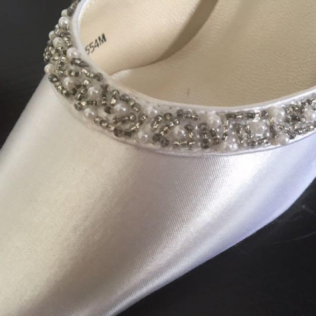 Satin White Shoes