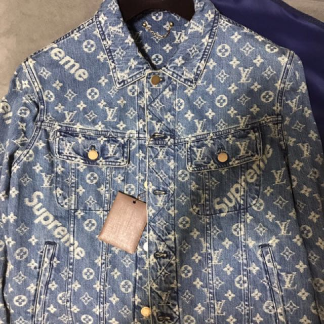 d3744b991e9b Selling Supreme X Louis Vuitton blue denim jacket size 50 (Hot ...
