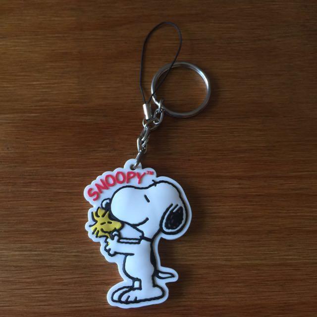 Snoopy 正品紀念幣鑰匙圈 。手機吊飾。