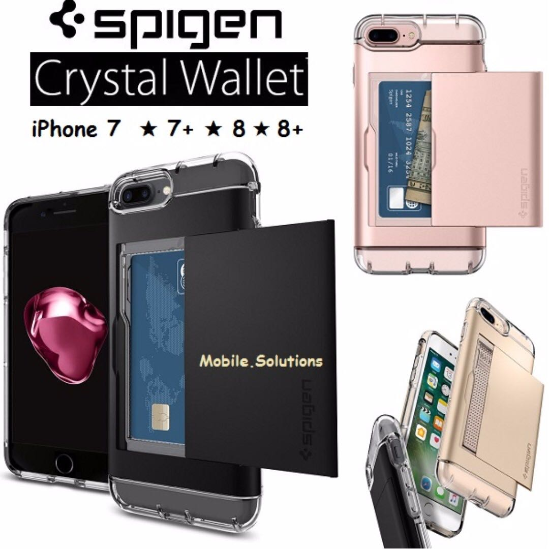 huge discount 8ed3e d0f43 Spigen ★ Crystal Wallet Series Case ★ Authentic ★ Apple ★ iPhone 8+ Plus ★  iPhone 8 ★ iPhone 7+ ★ iPhone 7