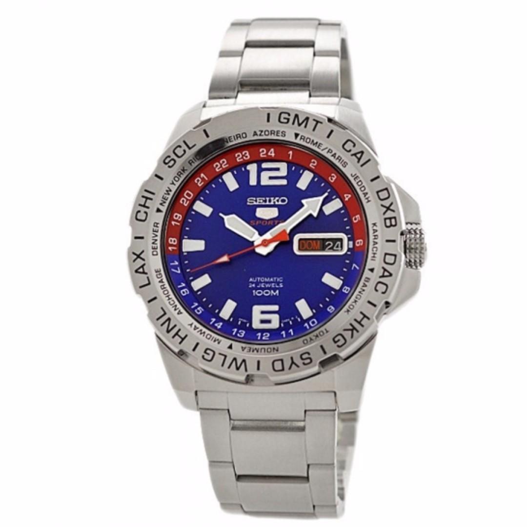 SRP681K -  NEW Seiko 5 Sports Automatic 24 Jewels 100M W/R Men's Watch