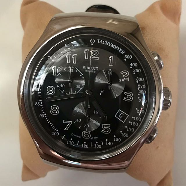 Swatch Men's Leather Watch