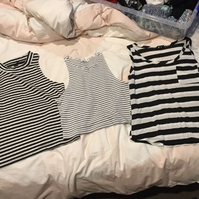 Three stripe tops