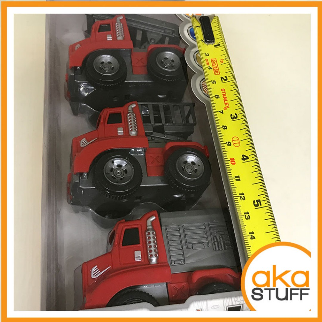 Toy Fire Truck and Constuction 3in1