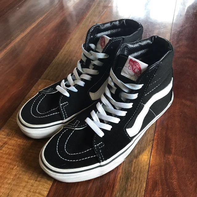 Vans classic black and white high tops