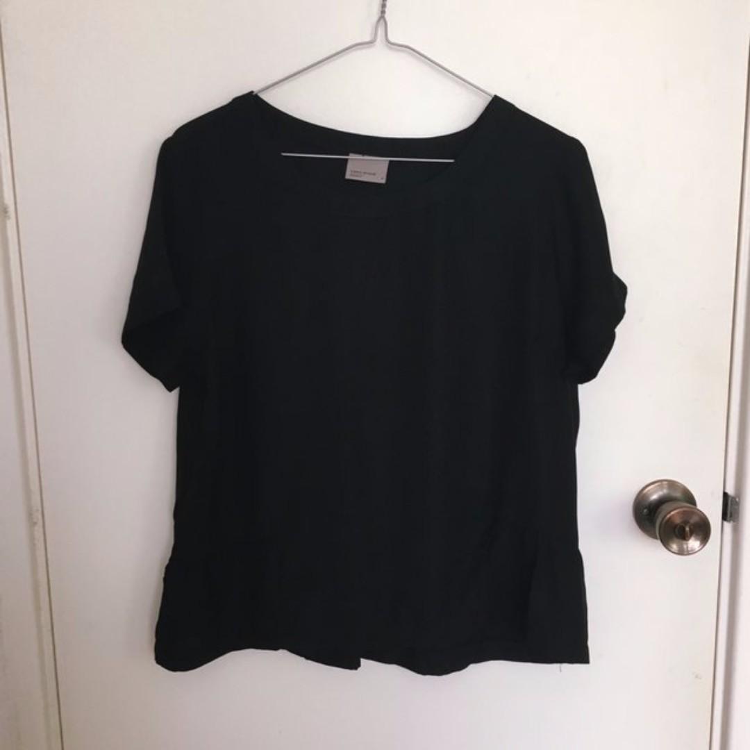 Vero Moda Black Ruffle Top