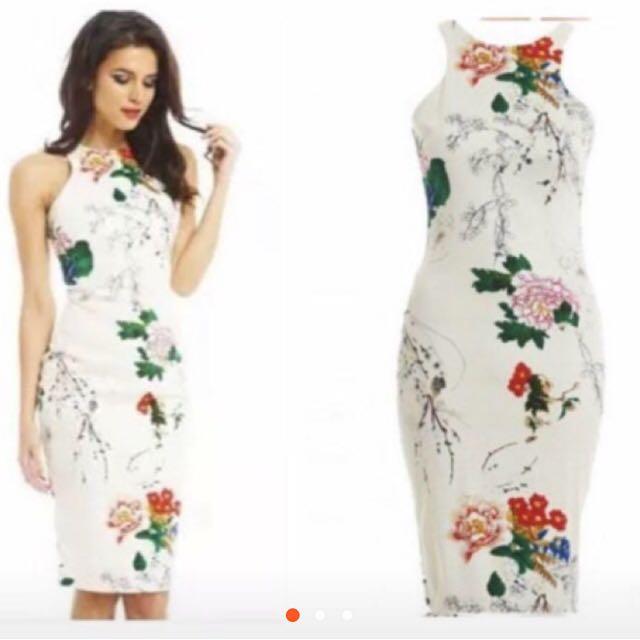 🌹Vivid 3D Floral Milky Cotton Dress 🌹