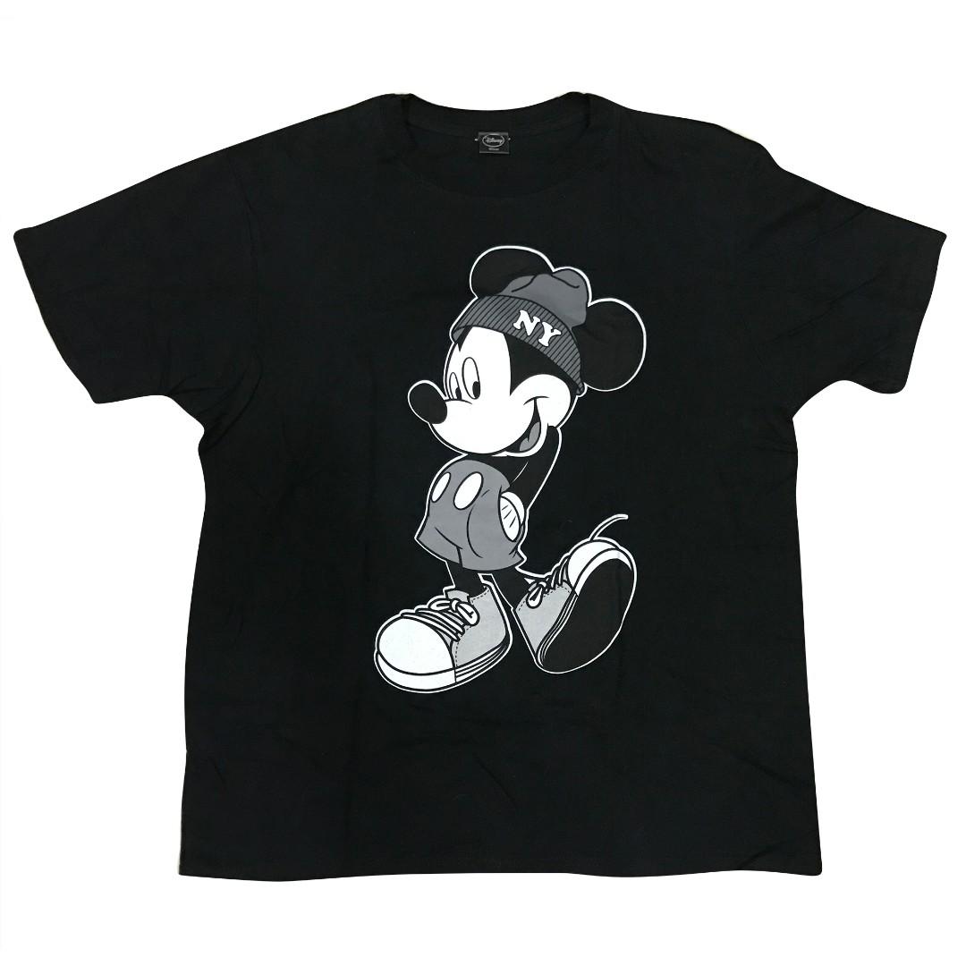 二手🐭WEGO 原宿 古著 日牌 迪士尼 米老鼠 MICKY 米奇 短T 黑T BOY NY