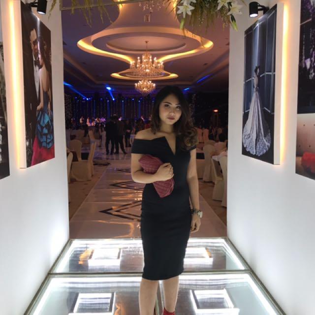 Ysl sabrina dress black