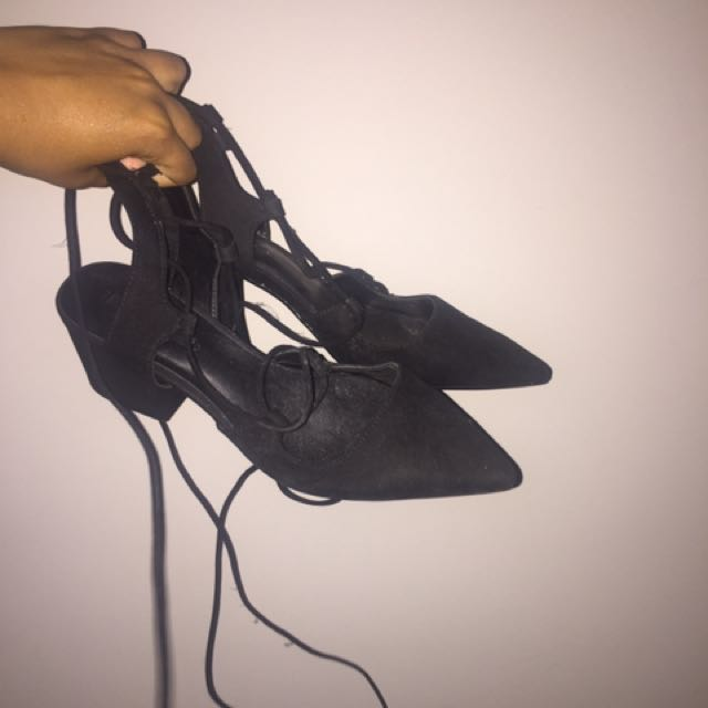 Zara laceup shoes