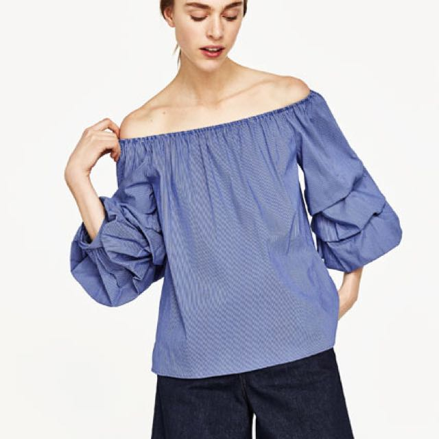 78faf26ed0e Zara Puffy Sleeves Off Shoulder Top, Women's Fashion, Clothes, Tops on  Carousell