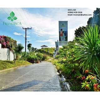 OVERLOOKING Highlands. LOT ONLY. Exclusive Subdivision in Cebu. Mountain & Sea View.  With Big Discount Promo if you Reserve this Month