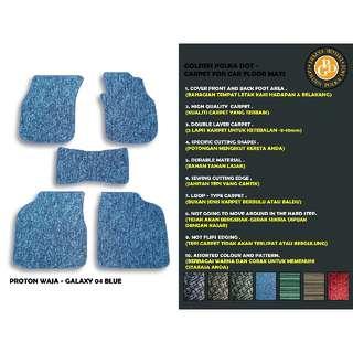 5pcs Proton Waja Customized High Quality Car Floor Mats- Galaxy Blue- POWJ-C067