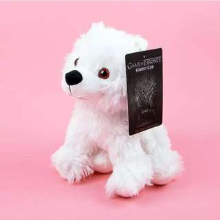 Game of Thrones Direwolf Cub - Ghost Jon Snow Plush Toys Doll