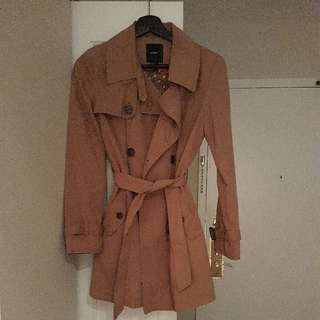 brand new small brown trenchcoat