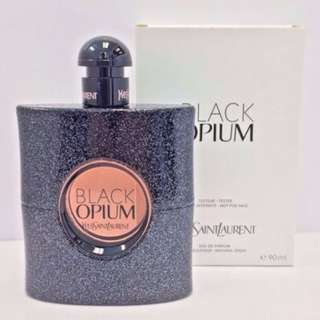 Black opium by ysl 90ml eau de parfum spray genuine tester