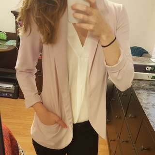 PRICE DROP Dynamite Light Pink Blazer (small)