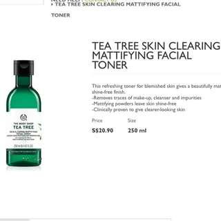 BN TEA TREE facial toner The body shop