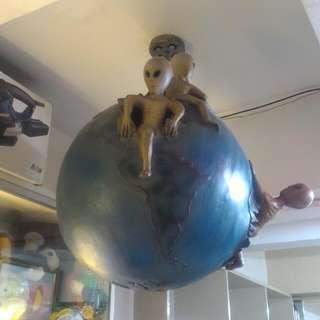 Antique Alien Globe