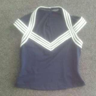 Navy Sailor Moon Style Top