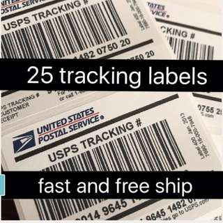 tracking labels (25$