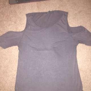 Cut shoulder t-shirt