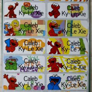 Sesame Street Namestickers