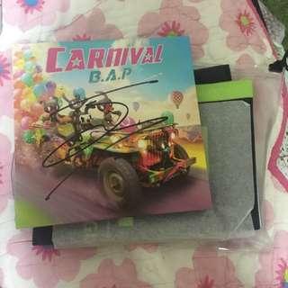 BAP autograph on album + towel