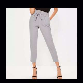 BNWT Missguided Grey High Waist Cigarette Pants