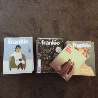 25 Frankie Magazines (Some With Posters)
