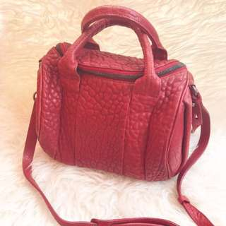 Authentic Alexander Wang Rocco bag small in red
