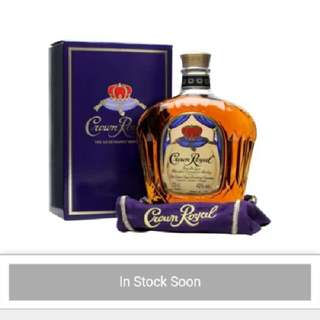 Authentic Crown Royal whiskey