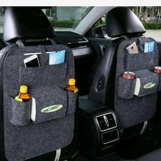 毛氈汽車多功能座椅毛氈儲物置物掛袋雜物車用收納袋 椅背袋