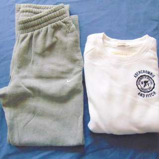 Abercrombie And Fitch Pullover Sweater & Nike Sweatpants