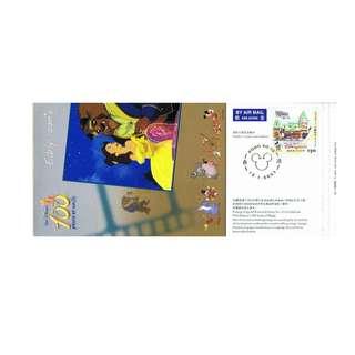 珍藏小冊子-為慶祝迪士尼百年周年紀念發行郵資已付明信片第5至12號;加貼二套票;紀念印