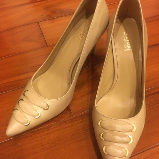 101 購買 MK michael kors 裸色高根鞋