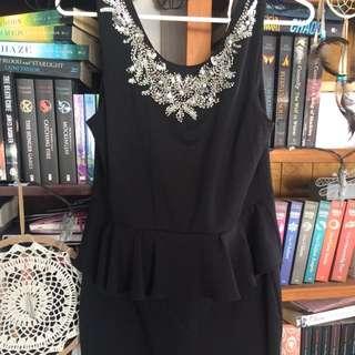 Lipsy London Peplum Mini Dress