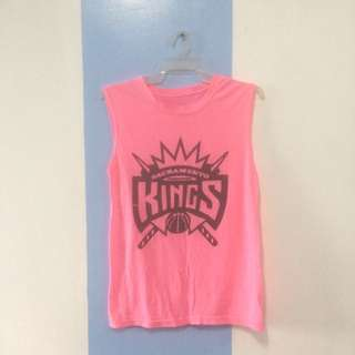 Neon Pink Muscle Tee