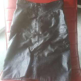 leather skirt size 8